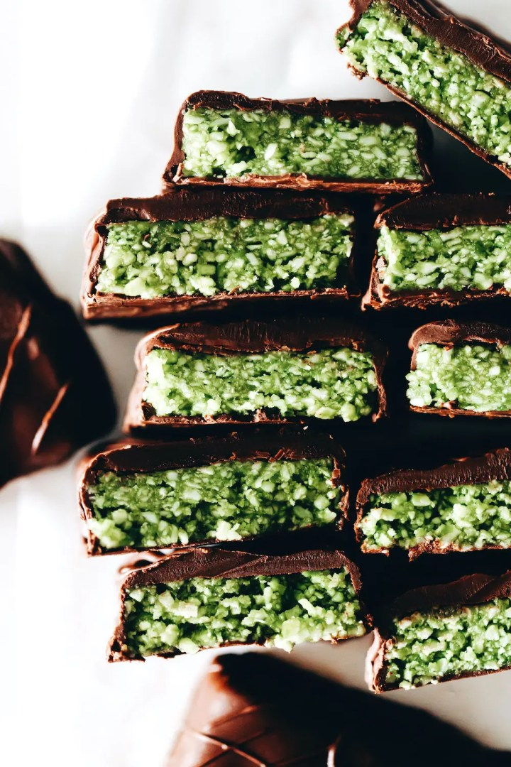 Matcha Coconut Bars (vegan + paleo)