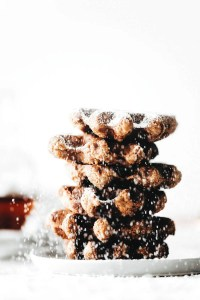 Crispy Peanut Butter Waffles