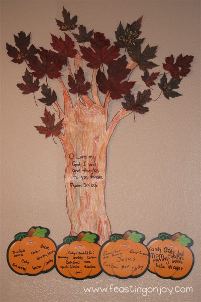 Harvest Leaf Thankful wall