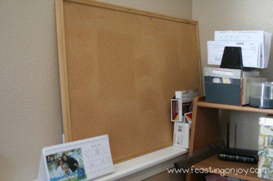 Bulletin board before