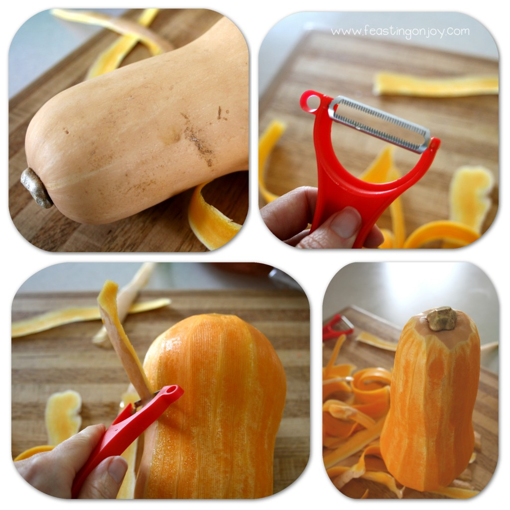 How to Peel and Prep and Butternut Squash First Steps