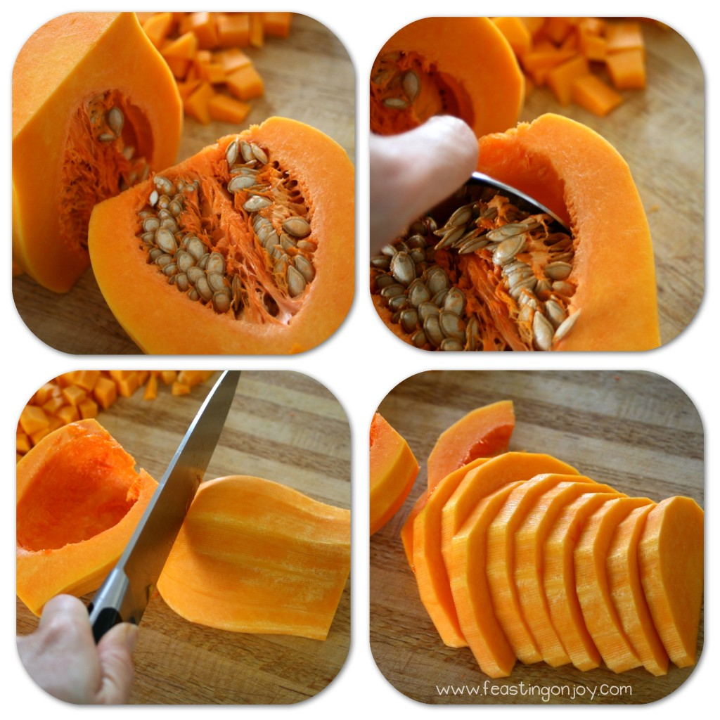 How to peel and prep a butternut squash third steps