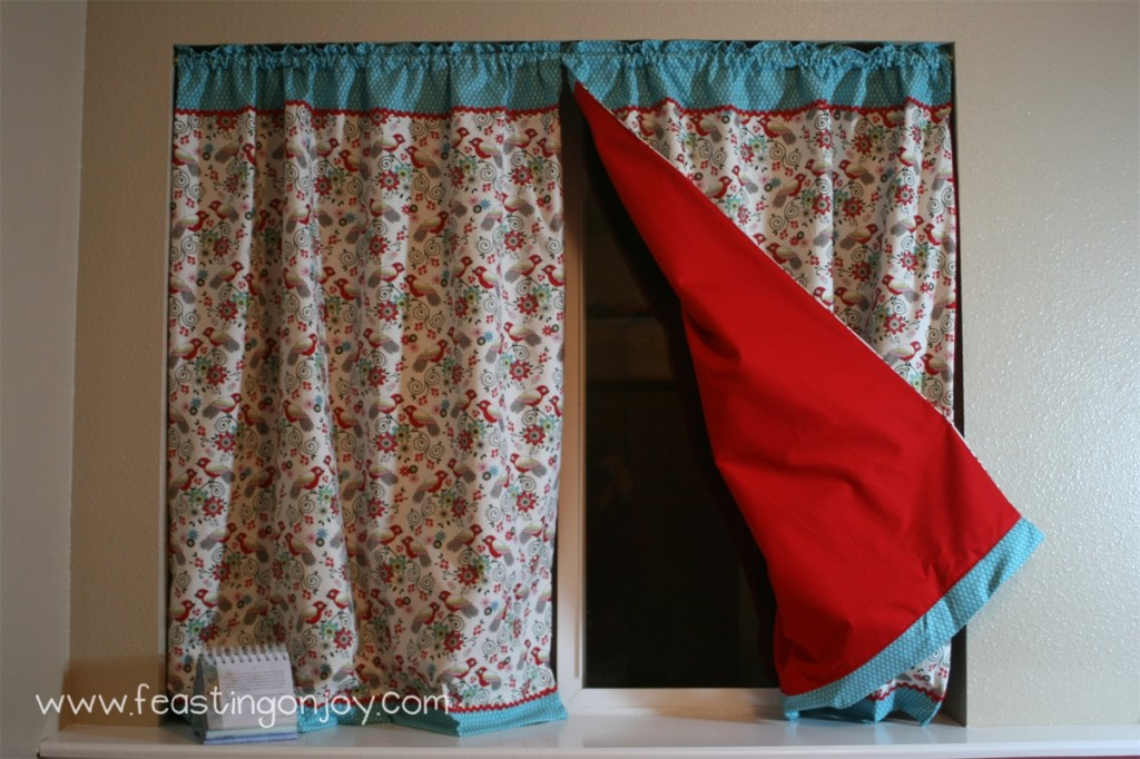 Craft Room Curtains Open