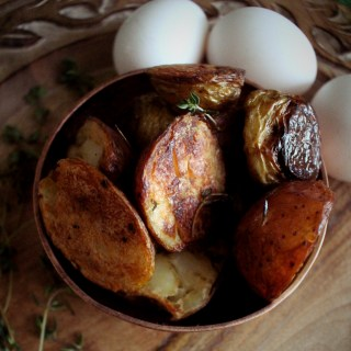 Feast of Fables Roasted Potatoes and Eggs Recipe