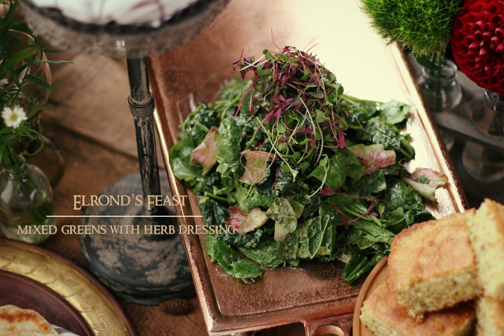 The Hobbit: Elrond's Feast - Mixed Greens with Herb Dressing
