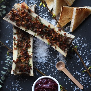 The Revenant: Roasted Bone Marrow with Onion Jam