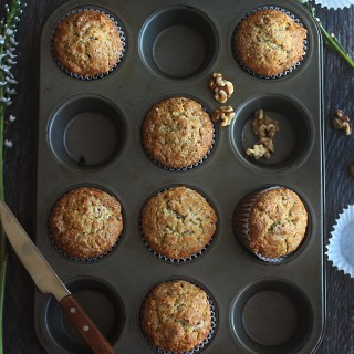 Divergent: Banana Flavored Muffins with Walnuts