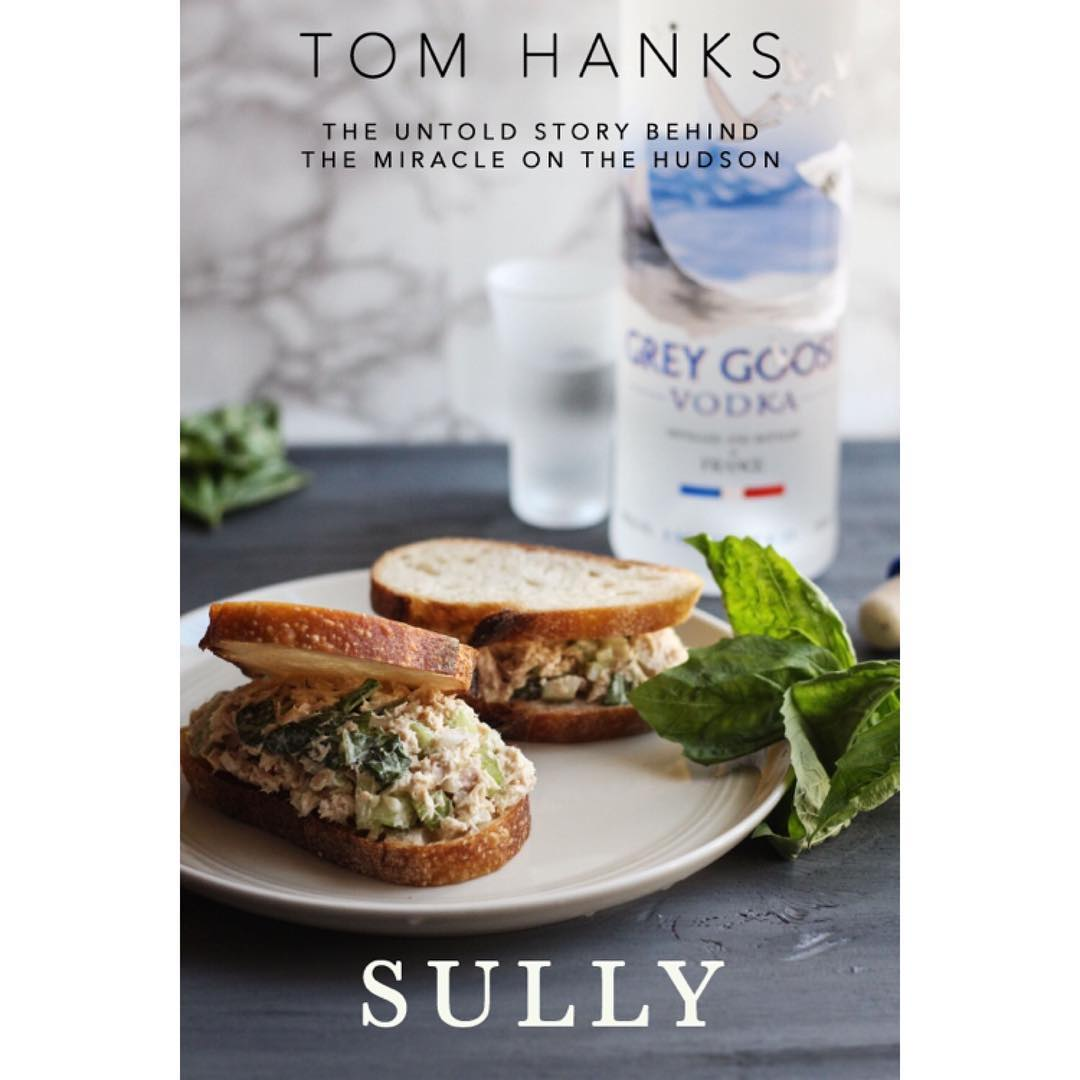 Tuna basil sandwich and The Sully Grey Goose and ahellip