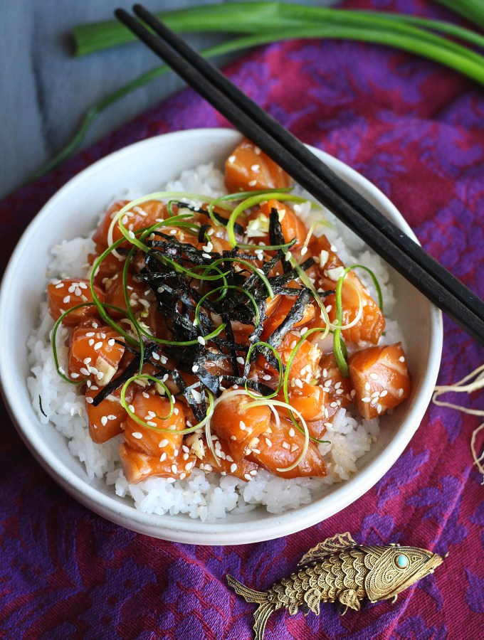 Kubo and the Two Strings: Salmon Poke Bowl Recipe