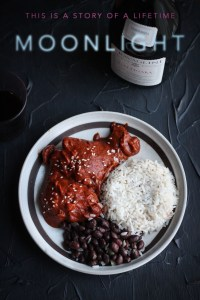 Moonlight: Chicken Mole with Black Beans and Rice Recipe