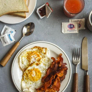 Twin Peaks: Eggs over Hard with Cremated Bacon