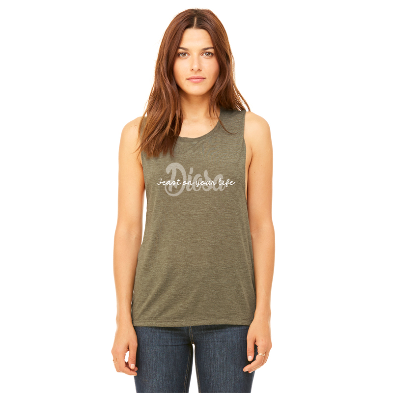 038be62b0 Diosa Womens Flowy Muscle Tank Heather Olive – FEAST ON YOUR LIFE