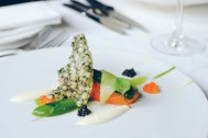 Cured pave of sea trout