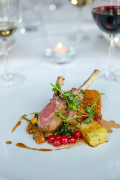 Marinated lamb cutlets & crispy shoulder