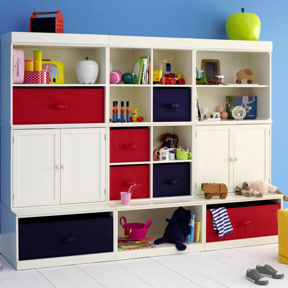 Kids Soft Storage Units  Feather  Black