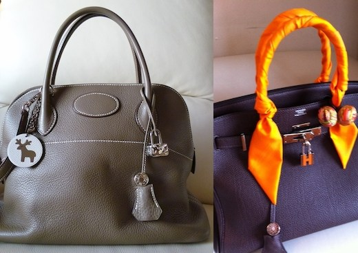 hermes clemence bolide etoupe and raisin birkin