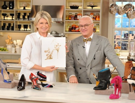 "Martha Stewart and Manolo Blahnik are seen in this photo from the production of ""The Martha Stewart Show"" in New York on Wednesday, October 13, 2010. Photo: David E. Steele/The Martha Stewart Show"