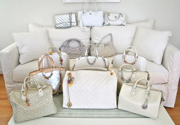 Dlynn's white bag collection