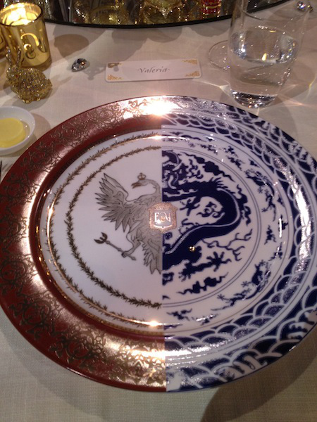Amazing Russian/Chinese plates special ordered for the wedding