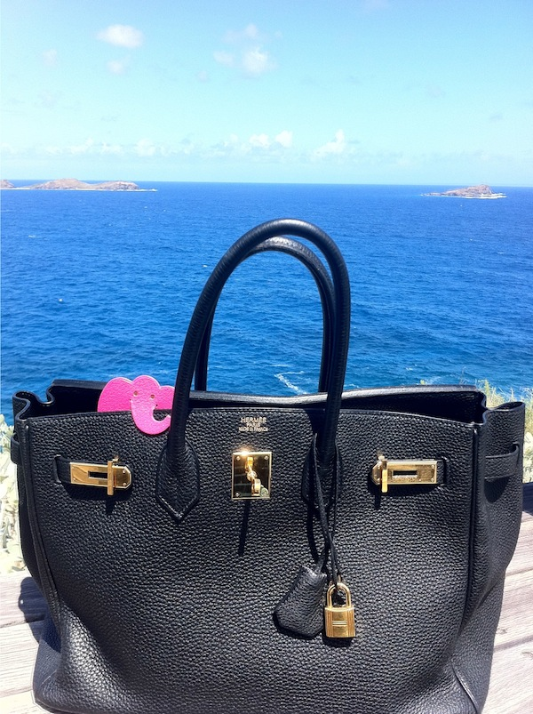 ABG's workhorse black Birkin in St. Barths
