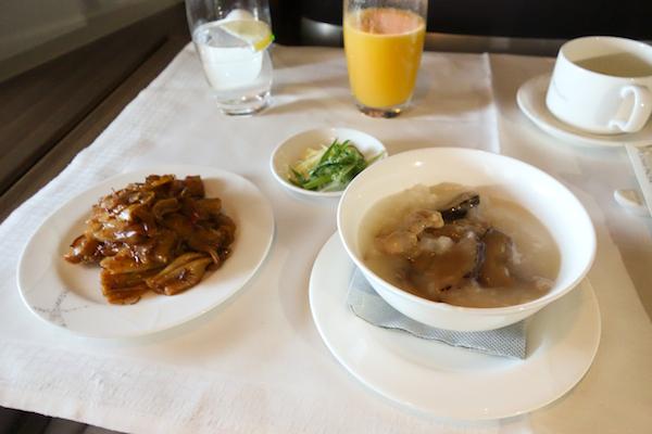 Plane breakfast