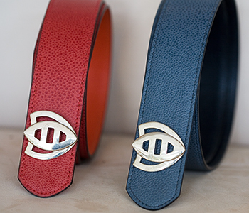 April in Paris belts with Bee buckle (Beatrice's logo)