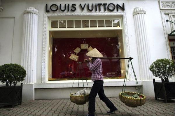 Louis Vuitton in Hanoi, via Paula Bronstein/Getty Images