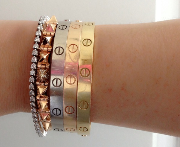 A wrist shot featuring some of ML's beautiful jewelry