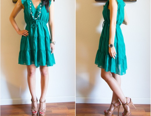 Anthropologie Signe Dress Green