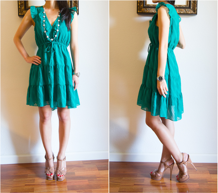 Anthropologie Signe Dress Green