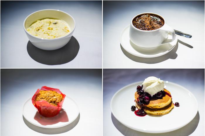 Qantas A380 First Class Breakfast