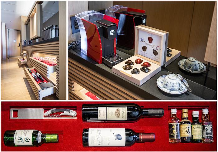 Ritz Carlton Kyoto Room Minibar Tea Service