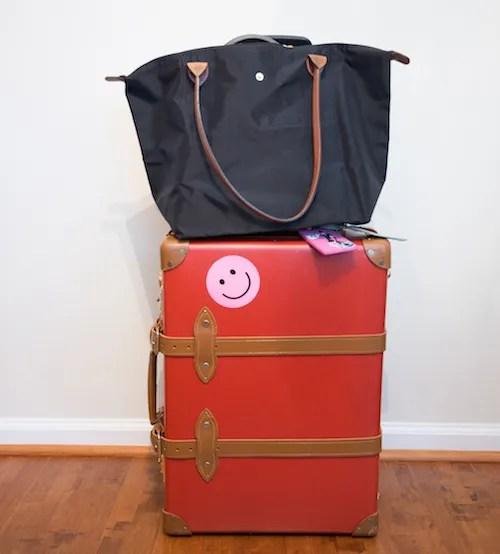 Longchamp Pliage on Luggage