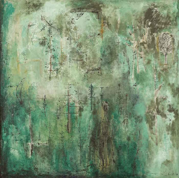 Zao Wou-ki, Untitled (Vert émeraude), c. 1950