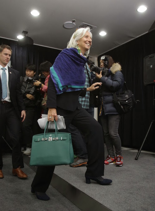 Wardrobe: Christine Lagarde | Feather Factor