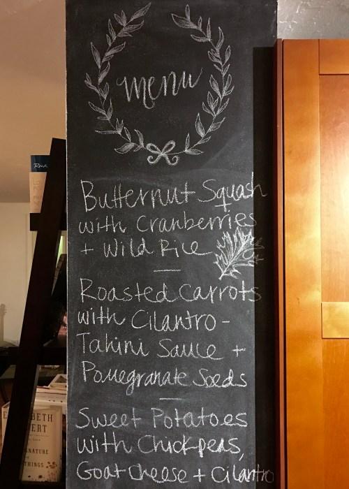 Fall Dinner Party Chalkboard Menu