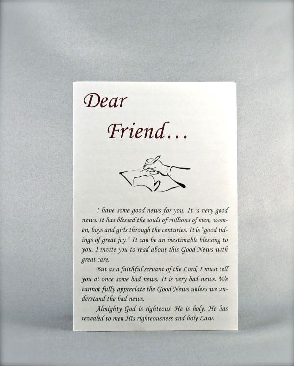 Dear Friend (Salvation Leaflet)