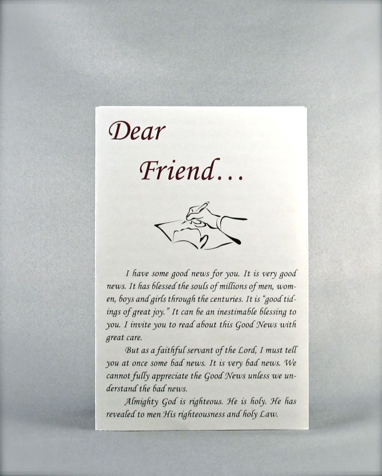 Dear Friend (Salvation Leaflet)