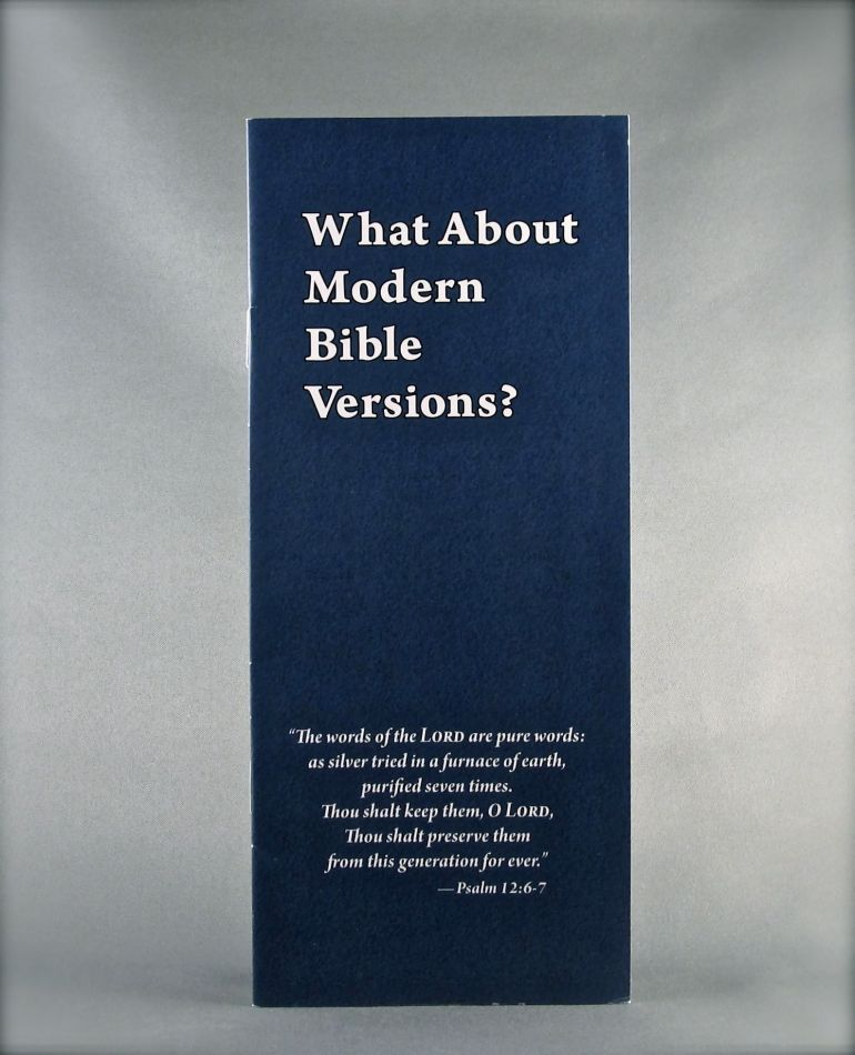 What About Modern Bible Versions?
