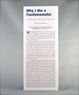 Why I Am a Fundamentalist