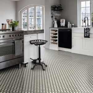 Ronda Black Sheet Vinyl Flooring