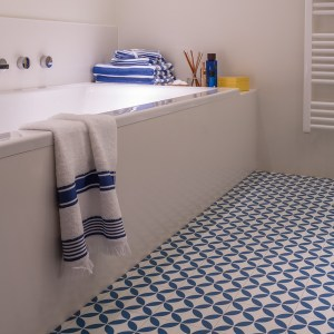 Ronda Blue Sheet Vinyl Flooring