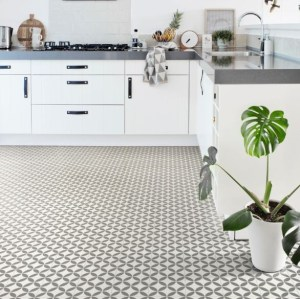Ronda Grey Sheet Vinyl Flooring