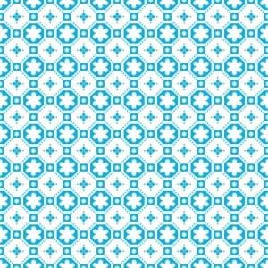 Rose des Vents Blue Vinyl Floor Tiles