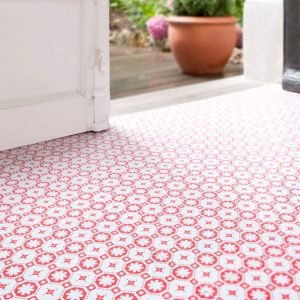 Rose des Vents Red Vinyl Floor Tiles