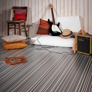 Stripes Muted Sheet Vinyl Flooring