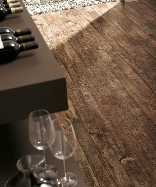 Wine & Fruits Brown Laminate Flooring