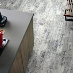 Wine & Fruits White Laminate Flooring