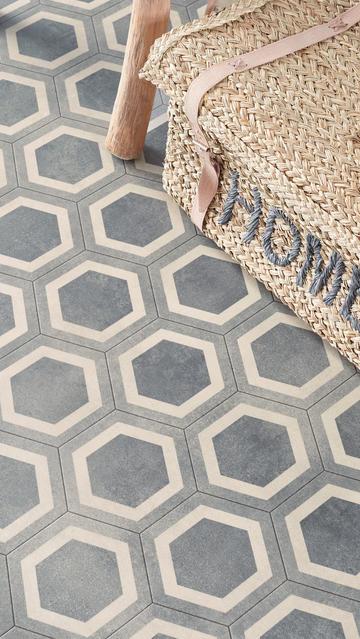 Hex Grey Sheet Vinyl Flooring M Wide Per M - Sheet vinyl flooring 14 feet wide