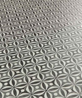Mid Century Black Sheet Vinyl Flooring